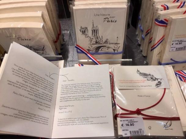Your Paris Story, with drawings, add your words and memories, Hotel de Ville souvenir Paris Rendez-Vous