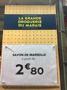 BHV Marais La Grande Droguerie soap Marseille