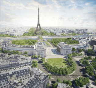 """Image shows the Eiffel Tower Green project """"OnEI"""""""