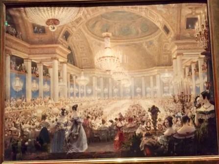 La Banquet des Dames dans la salle de spectacle des Tuileries (bal de 1835) Eugène Viollet-le-Duc