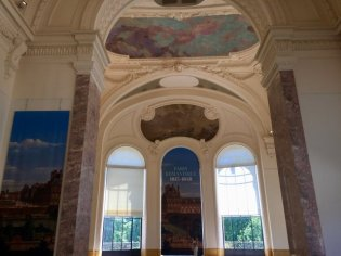 Interior of Petit Palais, wing facing Seine, entrance to temporary exhibits
