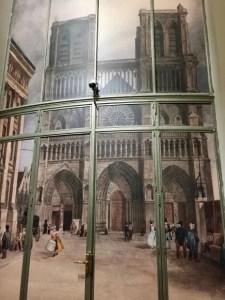 Doors with image of le Parvis de Notre-Dame de Paris