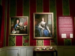 Images of the Philippe, Duke of Orléans and Élisabeth-Charlotte de Bavière, Duchess of Orléans at the Versaille exhibit, Madame de Maintenon
