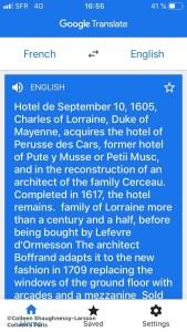 Translation by Google Translate
