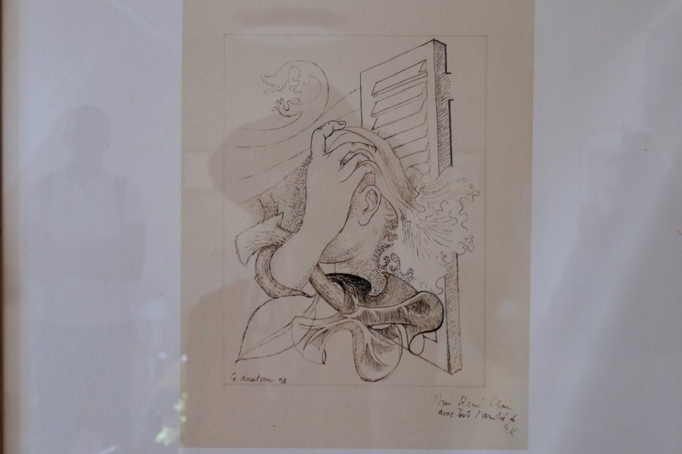 Drawing by works by poet and modern artist, Greta Knutson Tzara