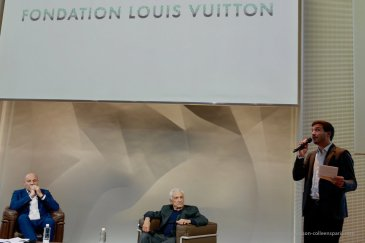 Image of Frank Gehry and Jean-Louis Cohen at the Fondation Louis Vuitton