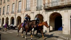 image of Mounted gendarmes east-side of Place des Vosges