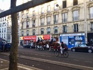 Gendarmes for morning promenade along Boulevard Richard Lenoir