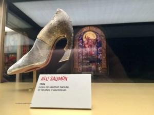 Exhibit Christian Louboutin Alu Salmon shoe