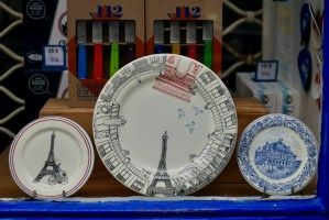 Image of plates in the window Bring France Home