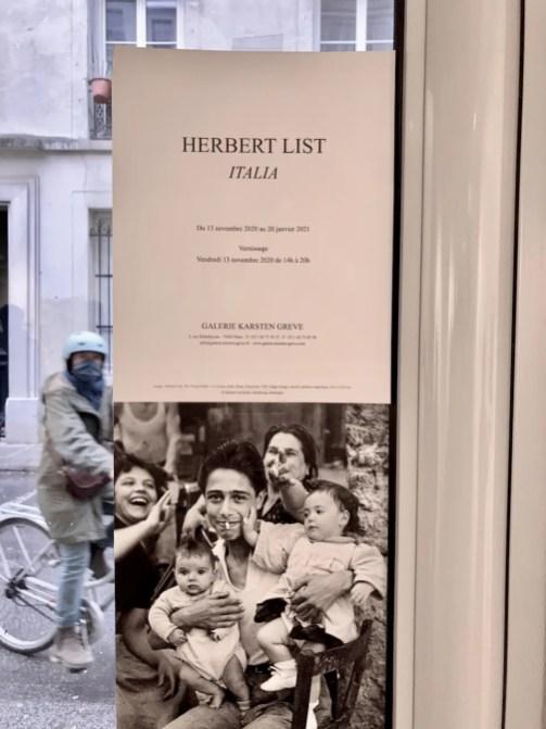 Herbert List Exhibit Galerie Karsten Greve Rue Debelleyme Paris