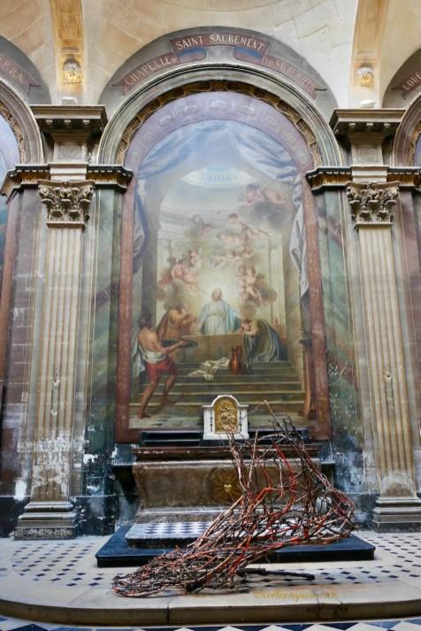 Achille - Wood Sculpture Paul Walker Hamy Eglise Saint-Merry