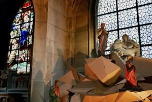 Nativity (Crèche) Cardboard Sculpture Paul Walker Hamy Eglise Saint-Merry