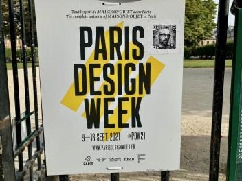 Sign for Paris Design Week