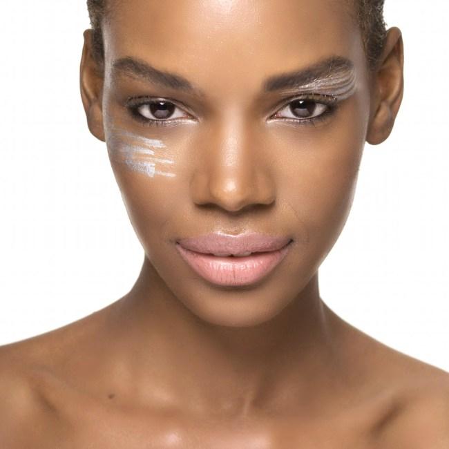 Silver-makeup-beauty-dark-skin-model-makeup-artist-colleen-stone