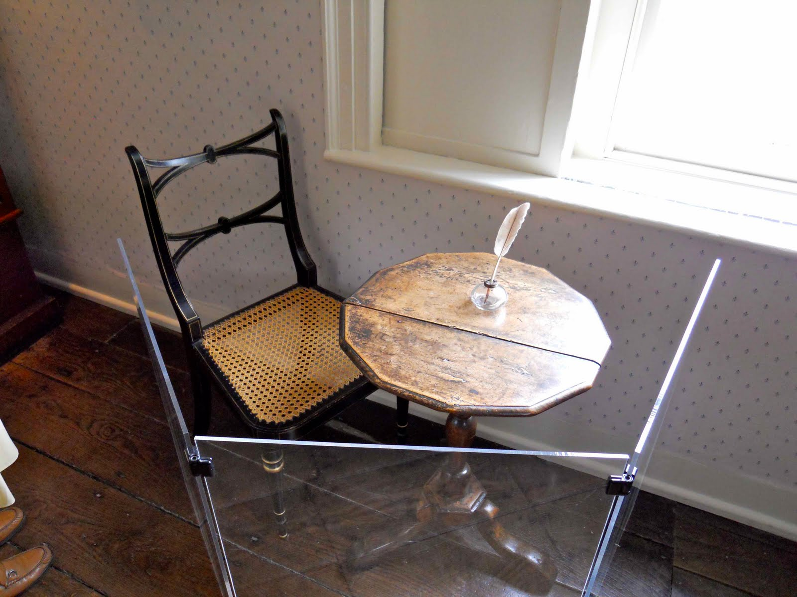chair for writing desk big round living room chairs jane austen's table and chair, chawton cottage, uk, c. 1809 | the core curriculum