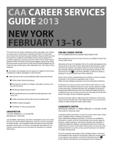 2013 Career Services Guide to the CAA Annual Conference in New York