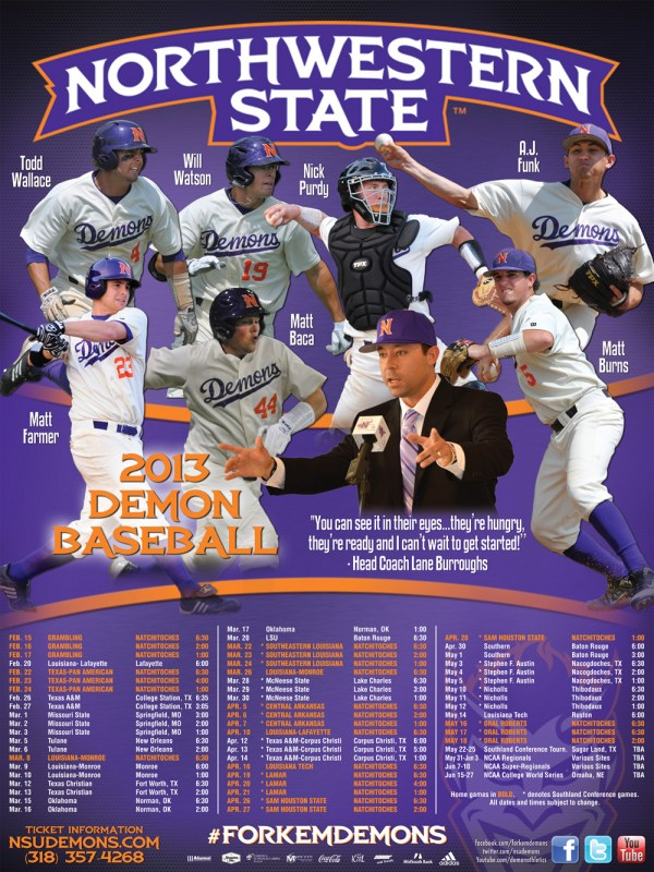 2013 NSU Baseball Poster