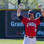 Gonzaga's MItchell Gunsolus accounted for all 3 of Gonzaga's runs, scoring 2 and knocking in 1.  Photo by David Cohen (BHEphotos)