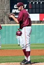Redshirt Junior RHP Andrew McDonald waits to throw a pitch during the Hokies 8-2 victory over USC-Upstate.