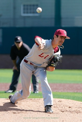3/17/17: USF BSB vs LMU at Benedetti Diamond in San Francisco, CA. Dons lose 6-5 Loyola Marymount Tigers pitcher Blake Redman (23) Image by Chris M. Leung for USF Dons Baseball