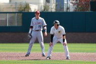 z3/17/17: USF BSB vs LMU at Benedetti Diamond in San Francisco, CA. Dons lose 6-5 Loyola Marymount Tigers infielder Jamey Smart (20) San Francisco Dons infielder Ross Puskarich (14) Image by Chris M. Leung for USF Dons Baseball