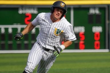 3/17/17: USF BSB vs LMU at Benedetti Diamond in San Francisco, CA. Dons lose 6-5 San Francisco Dons outfielder Brady Bate (8) Image by Chris M. Leung for USF Dons Baseball