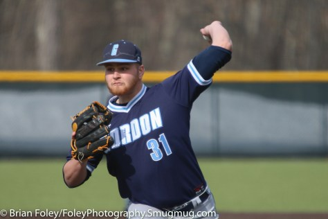 Monday, March 20, 2017; Northboro, MA; Gordon College Scots Derek Hudson (31) throws a pitch during the Engineers come from behind 9-7 victory over the Scots at the New England Baseball Complex.