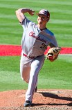 Friday, April 14, 2017; Brookline, MA; College of Charleston pitcher Tucker White (21) throws a pitch during the Huskies 6-3 victory over the Cougars in a CAA matchup at Parsons Field.