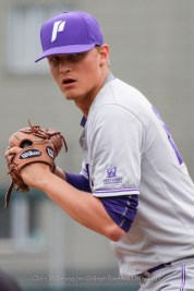 4/15/17: USF BASE vs Portland Pilots at Benedetti Diamond in San Francisco, CA. Portland wins 4-1. Portland Pilots pitcher Marty Luchenback (18) Image by Chris M. Leung for USF Dons Baseball