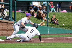 4/15/17: USF BASE vs Portland Pilots at Benedetti Diamond in San Francisco, CA. Portland wins 4-1. Portland Pilots infielder Ryan Hoogerwerf (5) San Francisco Dons infielder Nico Giarratano (6) Image by Chris M. Leung for USF Dons Baseball