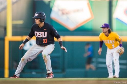 2017 College World Series: Oregon State defeats LSU 13-1.