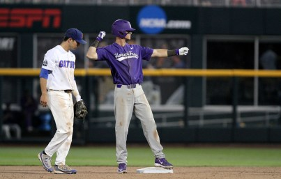 Florida defeated TCU 3-0 in the opening game for each team at the College World Series on Sunday, June 18, 2017. (Photo by Michelle Bishop)