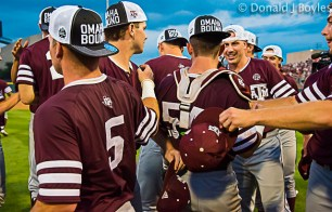 Texas A&M celebrates after win on Saturday.