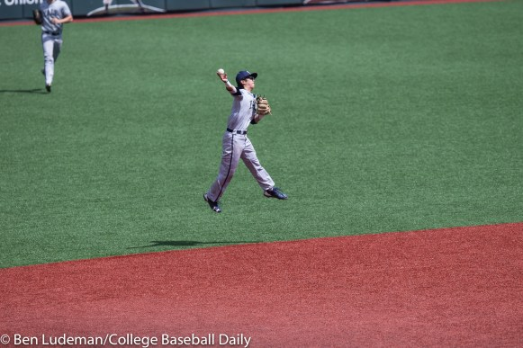 Corvallis, OR - JUNE 4: Dai Dai Otaka (4) of the Yale Bulldogs during a 9-5 Yale Bulldogs victory over the Holy Cross Crusaders in an NCAA Championship Regional Playoff game on June 4, 2017 at Goss Stadium on the campus of Oregon State University in Corvallis, OR (Photo by Ben Ludeman)