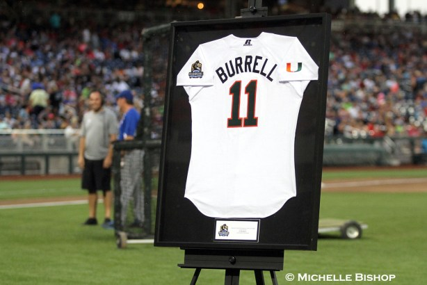 Pat Burrell was inducted into the Omaha College Baseball Hall of Fame.The eighth annual College Home Run Derby was held Saturday, July 1, 2017 at TD Ameritrade Park in Omaha. (Photo by Michelle Bishop)