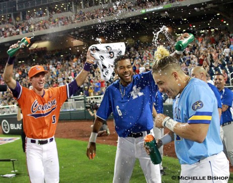 Morehead StateÕs Niko Hulsizer won the 2017 College Home Run Derby. The eighth annual College Home Run Derby was held Saturday, July 1, 2017 at TD Ameritrade Park in Omaha. (Photo by Michelle Bishop)