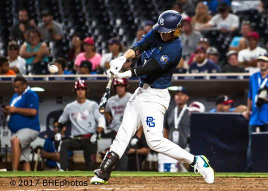 Austin Wells 2017 Perfect Game All American Game - Photo By David Cohen, BHEphotos