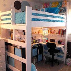 loft bed bunk beds for home college