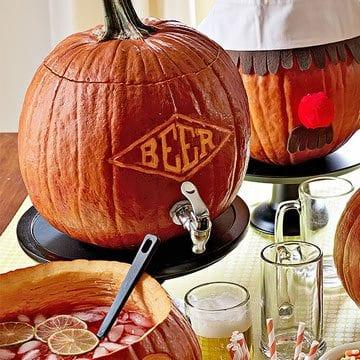 beer pumpkin carving inspiration