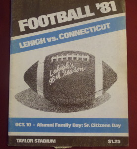 We watched Lehigh at old Taylor Stadium hold off UConn, 21-17, coached by our former Juniata HC Walt Nadzak who was taking the Huskies to a higher level.