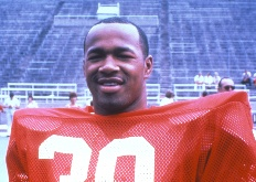Camden, NJ native Mike Rozier carried 16 times for 71 yards in Nebraska's 44-6 win over Penn State in the Inaugural Kickoff Classic we attended in 1983.