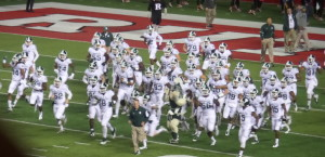 Spartan HC Mark D'Antoni leads his No. 4 Spartans into High Point solutions Stadium.