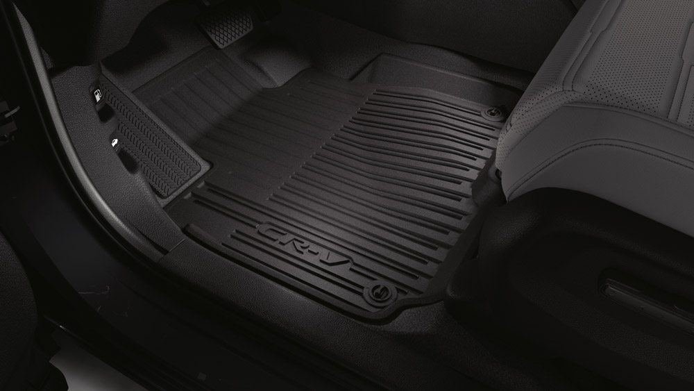 20172019 Honda CRV Black High Wall All Season Floor Mats