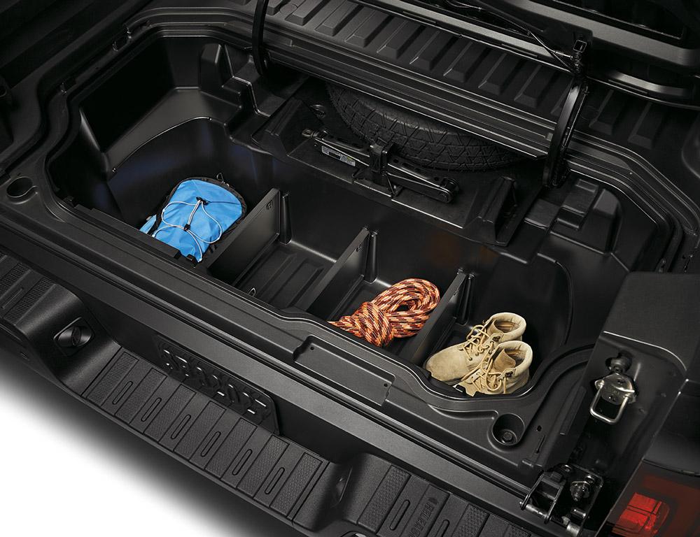 2017 2019 Honda Ridgeline In Bed Trunk Dividers 08U35