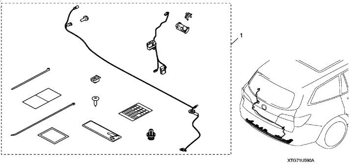 2019-2020 Honda Pilot Hands Free Power Tailgate Sensor