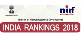 NIRF India Rankings 2018