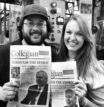 Rodenbush and 2013-'14 Collegian EIC Brittany Horn