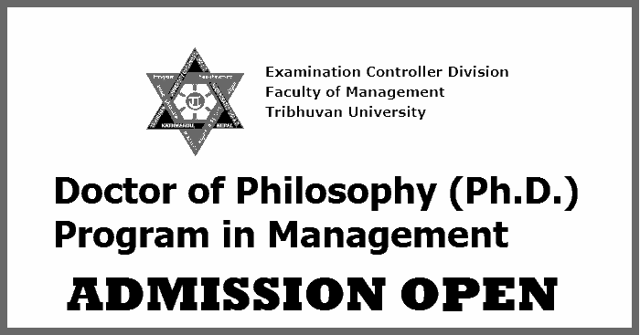 Doctor of Philosophy (Ph.D.) in Management Admission Open