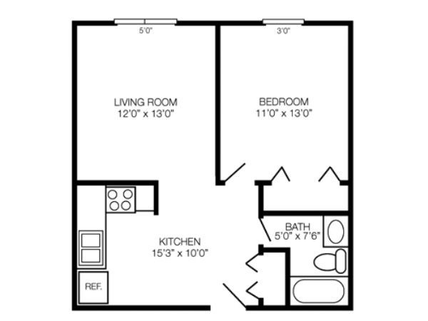 Kent Village apartments in Kent, Ohio